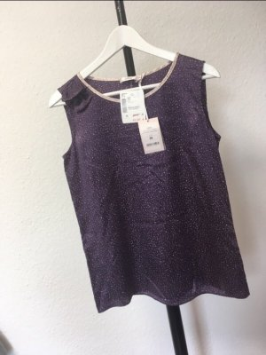 UNQ Silk Top dark violet-pink silk