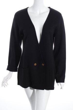 UNQ Strick Cardigan schwarz minimalistischer Stil