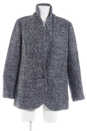 UNQ Wolljacke dunkelblau-grau meliert Casual-Look