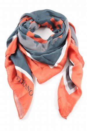 Unrath&Strano Zijden sjaal abstract patroon casual uitstraling