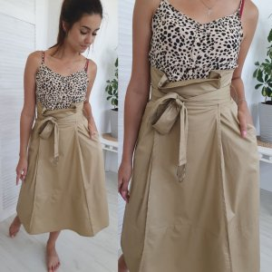 High Waist Skirt beige