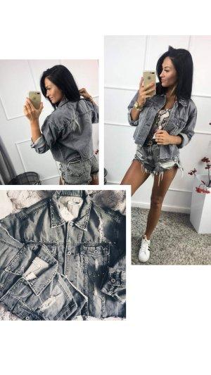 Denim Jacket light grey-grey
