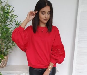 Oversized Blouse red