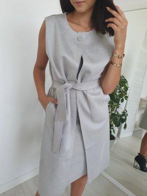 Leather Vest light grey