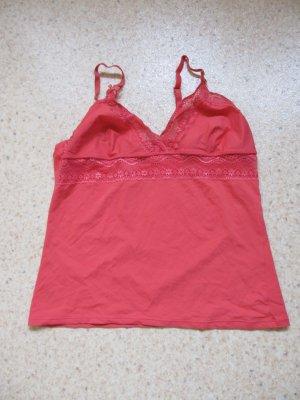 Unterhemd lachsfarben mit Spitze Gr. 36/38