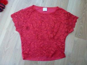 Unterhemd Spitze sehr sexy rot Gr. S Desiree Hemd