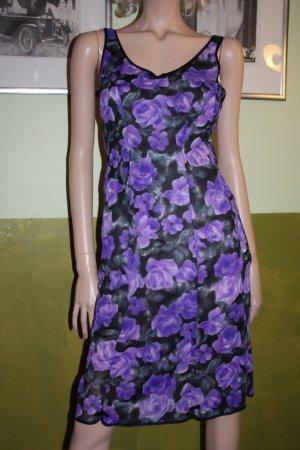 Unterkleid lila schwarz Rosen 38