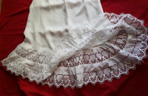 gede Enaguas blanco tejido mezclado