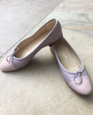 Unützer Bailarinas con punta rosa claro-púrpura