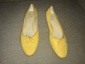Unützer Ballerinas Flats 41 gelb ungetragen Slipper Loafer