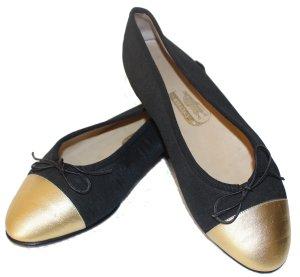 Unützer Bailarinas con punta negro fibra textil