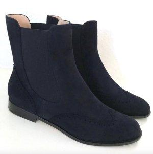 Unützer Chelsea Boots NEU Blau 39 Unuetzer Stiefeletten Budapester Wildleder