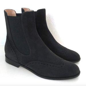 Unützer Chelsea Boots NEU Braun 39 Unuetzer Stiefeletten Budapester Wildleder