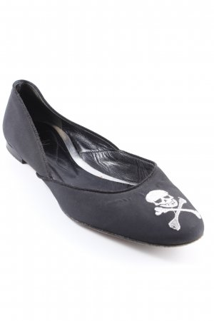 Unützer faltbare Ballerinas schwarz Gothic-Look