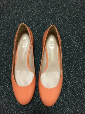 Unützer Patent Leather Ballerinas apricot leather