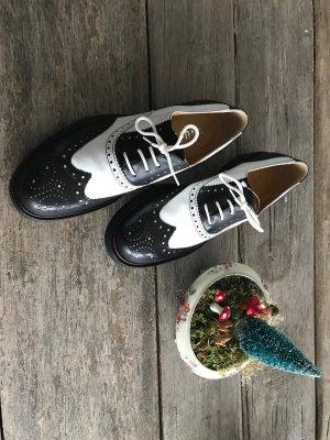 Unützer Lace Shoes white-black leather