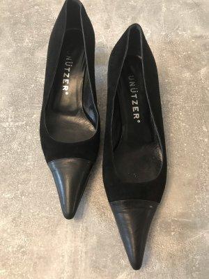 Unützer Zapatos de punta negro