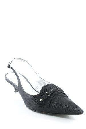Unützer Sandales à talons hauts et lanière noir élégant