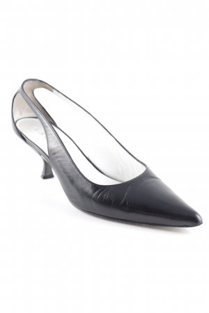 Unützer Slingback-Pumps schwarz Business-Look