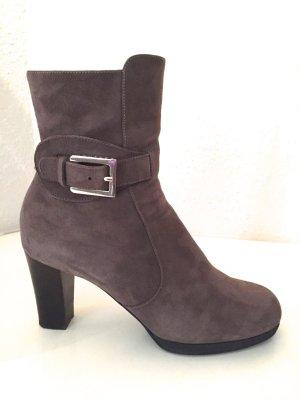 Unuetzer Stiefeletten 40,5 Grau Braun Wildleder Stiefel Boots Tod's Dust Bag