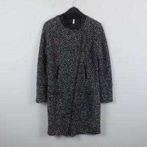 Short Coat black-silver-colored mixture fibre