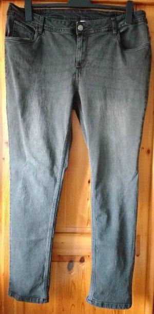 Stretch Jeans dark grey mixture fibre