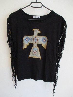 Print Shirt black cotton