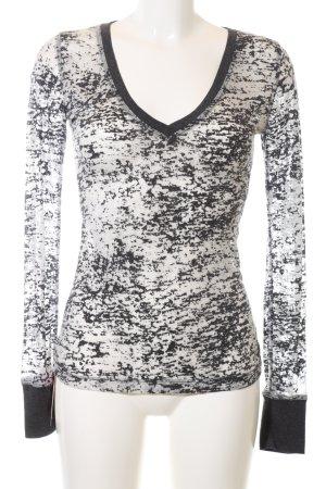 Urban Behaviour Longsleeve schwarz-weiß abstraktes Muster Casual-Look