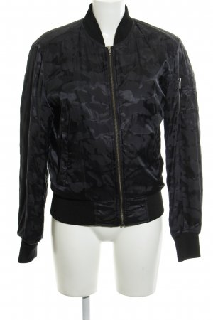 Urban Classics Bomber Jacket black-dark blue camouflage pattern