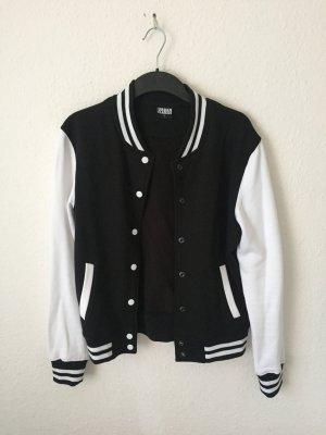 Urban Classics College Jacket white-black