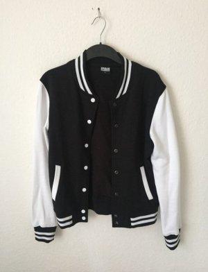 Urban Classics College Jacket black-white