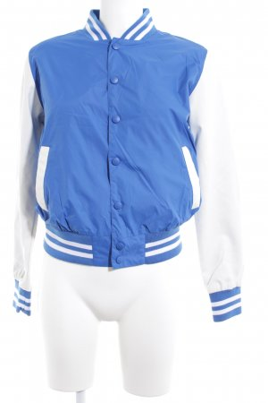 Urban Classics College Jacket natural white-cornflower blue striped pattern
