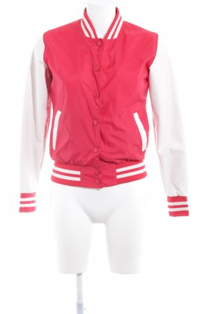 Urban Classics Collegejacke wollweiß-rot Streifenmuster College-Look