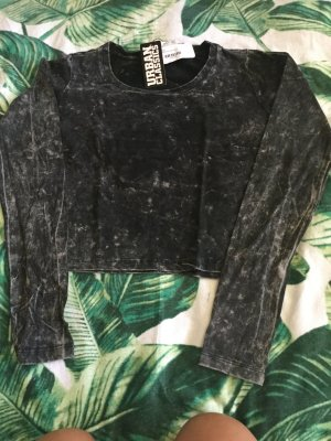 Urban Classics Camisa larga negro-marrón grisáceo