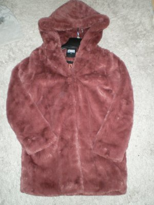 Urban Classics Fake Fur Coat russet fake fur