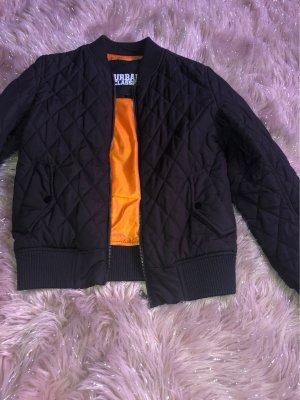Urban Classics Chaqueta bomber negro-naranja