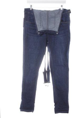 Urban Classics Jeans met bovenstuk donkerblauw skater stijl