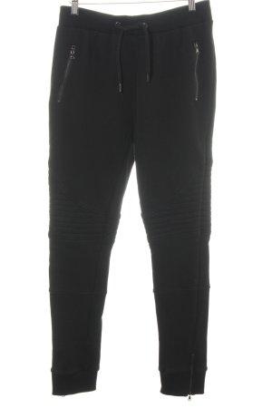 Urban Classics Pantalone fitness nero motivo trapuntato stile casual