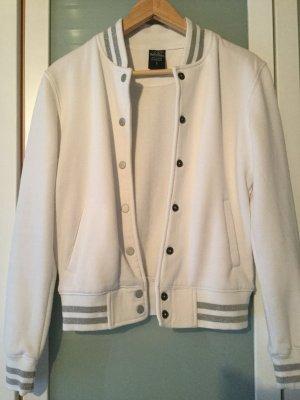 UrbanClassics College Jacket white-silver-colored