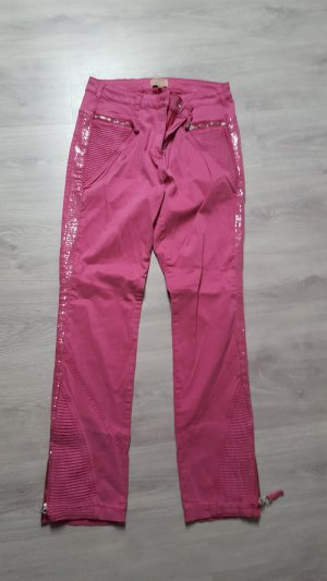 Five-Pocket Trousers neon red