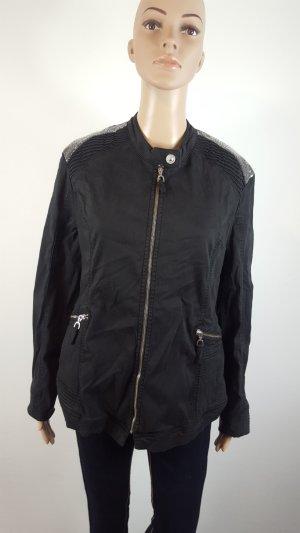 Urban Diva Bikerjacke schwarz mit Pailetten Größe 42 NEU schwarz