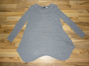 Urban Outfitters BDG Longshirt Longsleeve Kleid Zipfel grau meliert Gr. S 36