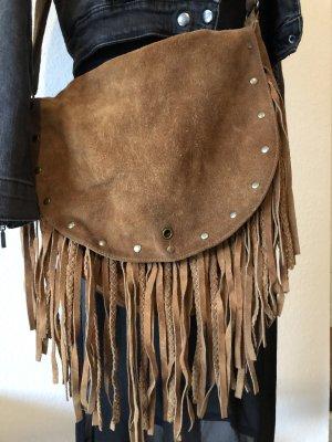 Urban outfitters Cognac Fransen Tasche festibak hippie look