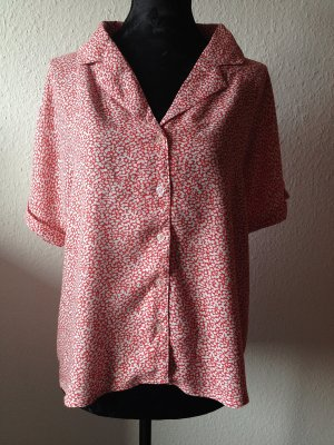 Urban Outfitters Cooperative Bluse Hemd Print Rot Weiß