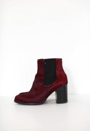 Urban Outfitters Deena & Ozzy 90er Boots dunkelrot Burgundy Chelsea Stiefeletten