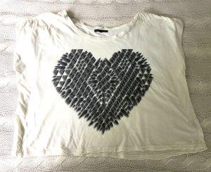 Urban Outfitters T-shirt wolwit-lichtgeel Katoen