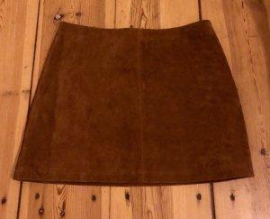 Urban Outfitters Minifalda marrón Cuero