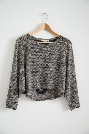 Urban Outfitters Long Shirt black-cream polyester