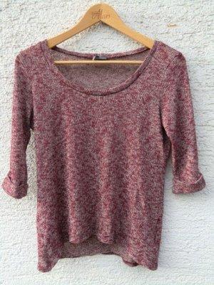 Urban Outfitters Pullover Shirt Oberteil dunkelrot meliert Sparkle & fade dünner Pulli