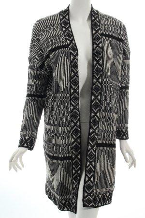 Urban Outfitters Strick Cardigan schwarz-weiß abstraktes Muster Boho-Look